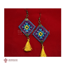 Embroidered  Earrings - Embroidered  Earrings